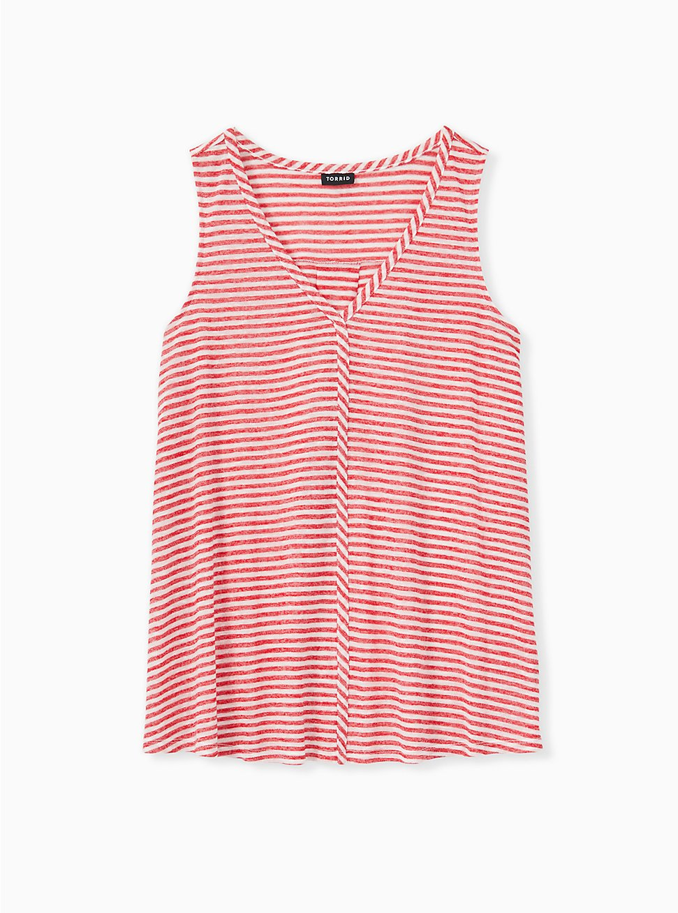 Red Stripe Jersey Swing Tank, STRIPE - RED, hi-res