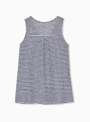 Plus Size Navy Stripe Jersey Swing Tank, STRIPE - BLUE, alternate