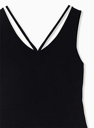 Super Soft Black Strappy Bodysuit, DEEP BLACK, alternate