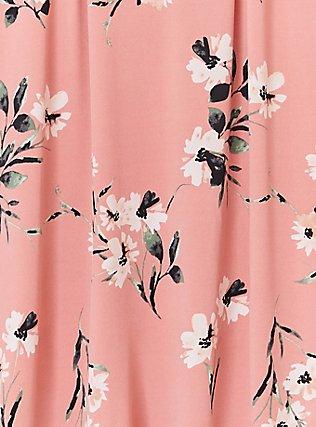 Coral Floral Studio Knit & Lace Goddess Tank, FLORAL - PEACH, alternate