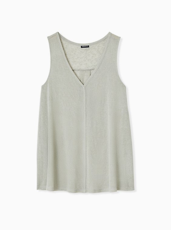Jade Green Jersey Swing Tunic Tank, , hi-res