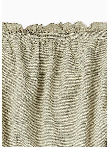 Sage Green Textured Jersey Strapless Crop Top, SEAGRASS, alternate