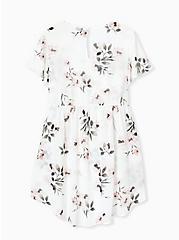 White Floral Chiffon Hi-Lo Tunic, FLORAL - IVORY, alternate