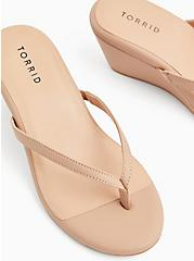 Beige Faux Leather Midi Wedge (WW), , alternate