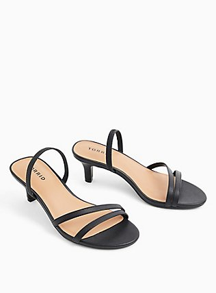 Black Faux Leather Slingback Heel (WW), BLACK, alternate