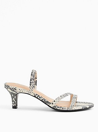 Snakeskin Print Faux Leather Slingback Heel (WW), ANIMAL, alternate
