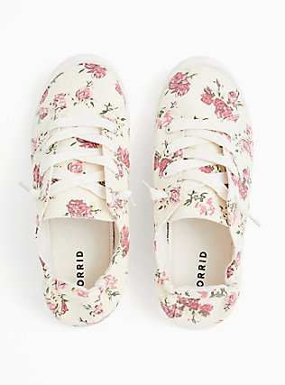 Ivory Floral Ruched Sneaker (WW), MULTI FORAL, alternate