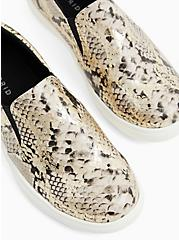 Snakeskin Print Faux Leather Slip-On Sneaker (WW), ANIMAL, hi-res