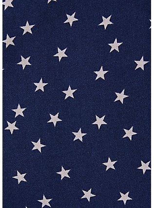 Navy & White Star Challis Drawstring Midi Dress, STARS-NAVY, alternate