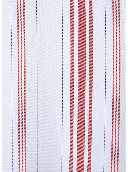 Red & White Stripe Shirred Hem Maxi Dress , STRIPE - RED, alternate