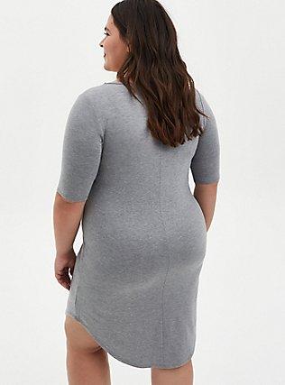 Heather Grey Jersey T-Shirt Dress, HEATHER GREY, alternate