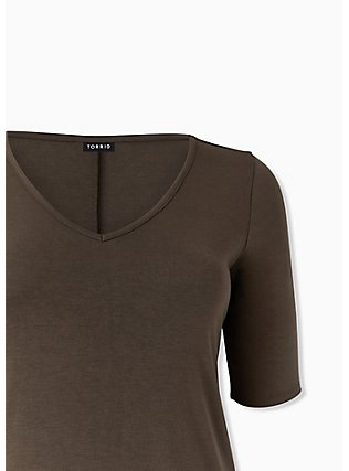 Olive Green Jersey T-Shirt Dress, DEEP DEPTHS, alternate