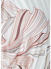 White Floral Challis Drawstring Maxi Dress, FLORAL - WHITE, alternate