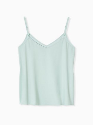 Plus Size Sophie - Mint Blue Crepe Back Satin Swing Cami , HARBOR GREY, alternate