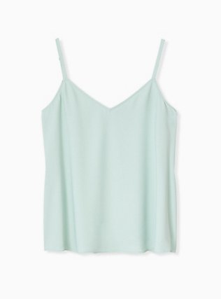 Plus Size Sophie - Mint Blue Crepe Back Satin Swing Cami , HARBOR GREY, hi-res