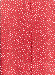 Super Soft Red Ditsy Dots Button Fit & Flare Top, DOT - RED, alternate