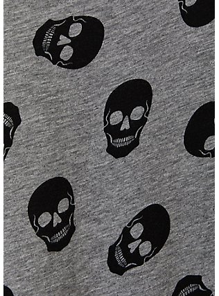 Heather Grey Skull Heritage Slub Tank, SKULLS ALLOVER, alternate
