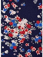 Super Soft Navy Ditsy Floral Culotte Jumpsuit, FLORAL - BLUE, alternate