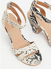 Plus Size Snakeskin Print Faux Leather Ankle Strap Cone Heel (WW), ANIMAL, alternate