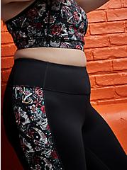 Black Tattoo Print Wicking Active Legging with Pockets, DEEP BLACK, hi-res