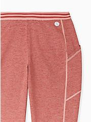 Dusty Coral Space-Dye Wicking Crop Active Legging with Pockets, CORAL, alternate