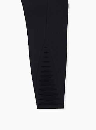 Premium Legging - Ladder Slashed Back Black, BLACK, alternate