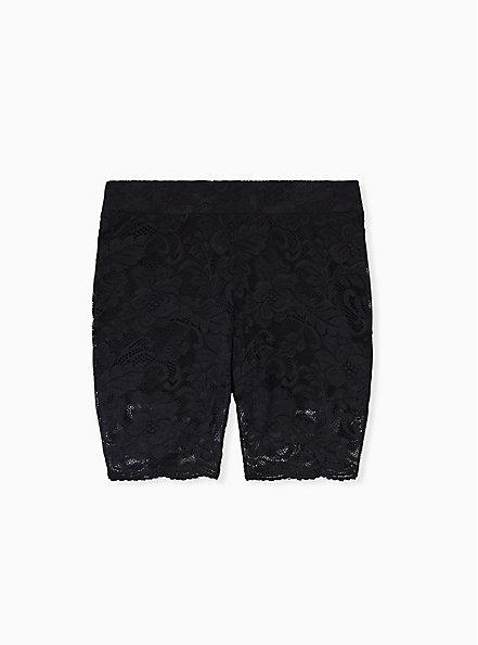 Black Lace Bike Short, BLACK, alternate