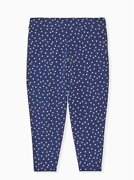 Plus Size Crop Premium Legging - Navy Star, MULTI, alternate