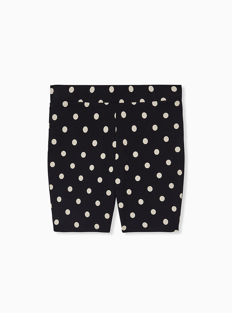 Plus Size Black & White Polka Dot Bike Short, MULTI, hi-res