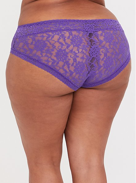 Purple Lacey Hipster Panty, CRYSTAL BALL PURPLE, alternate