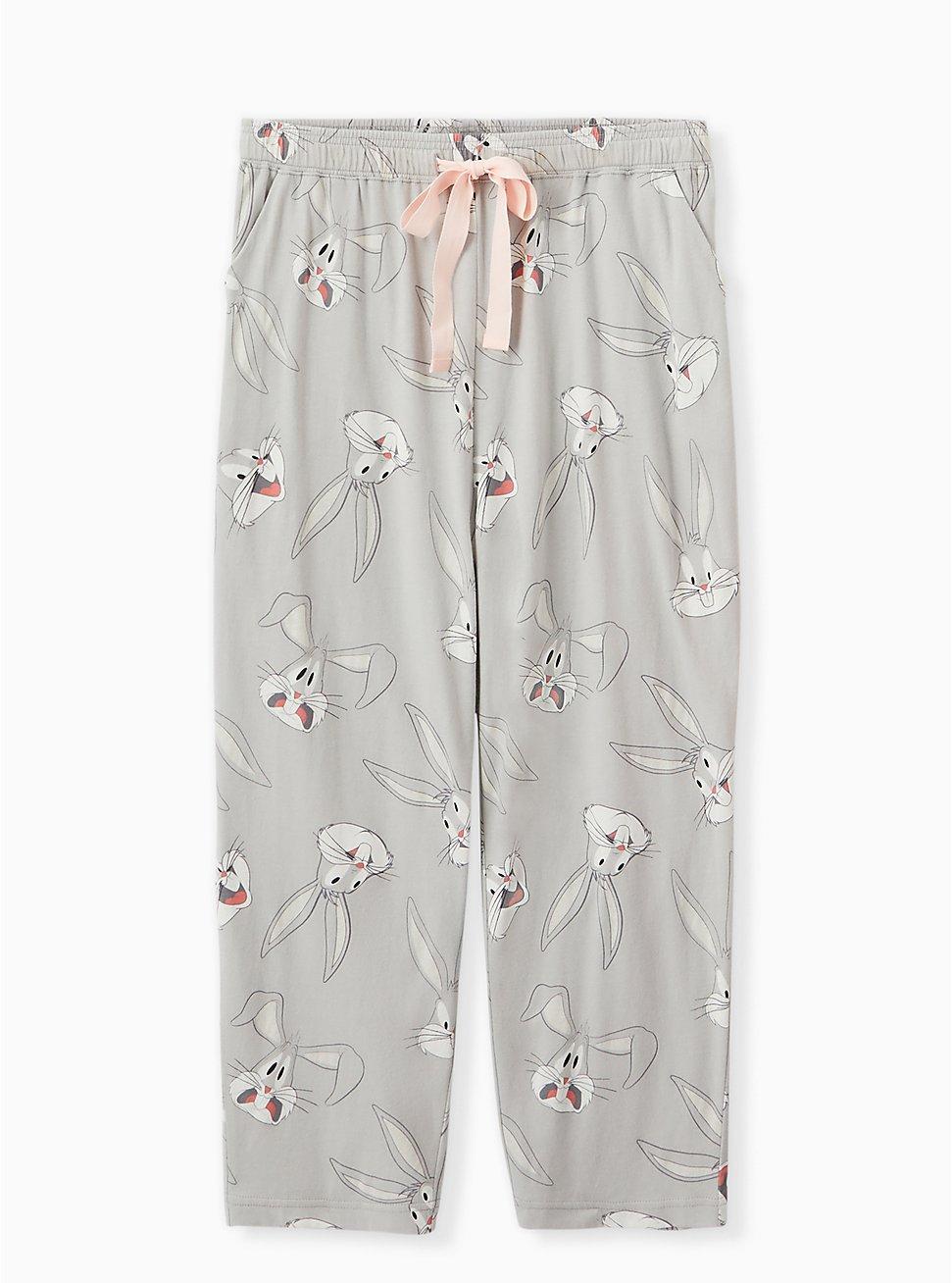 Looney Tunes Bug Bunny Grey Crop Sleep Pant, GREY, hi-res