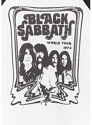 Black Sabbath White Raglan Tank, CLOUD DANCER, alternate