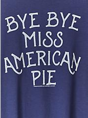Bye Bye Miss American Pie Navy Crop Crew Tee, PEACOAT, alternate