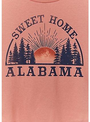Sweet Home Alabama Coral Crop Crew Tee, , alternate