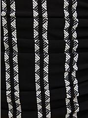 Black & White Geo Stripe Underwire One-Piece Swimsuit, , fitModel1-alternate
