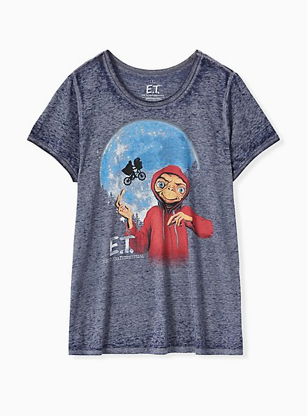 E.T. The Extraterrestrial Top - Burnout Navy, PEACOAT, hi-res