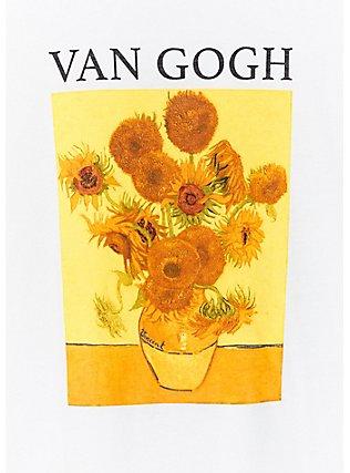 Van Gogh Sunflow White Crop Crew Tee, CLOUD DANCER, alternate