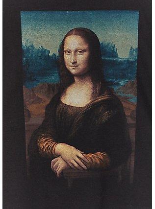 Mona Lisa Black Crop Crew Tee, DEEP BLACK, alternate