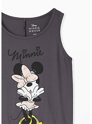 Disney Minnie Mouse Dark Slate Grey Crew Tank, CLOUD DANCER, alternate