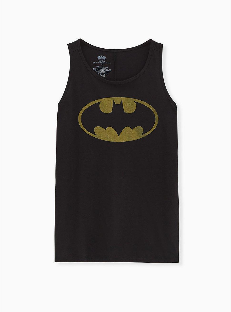 Batman Crew Tank - Black, DEEP BLACK, hi-res