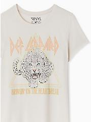 Def Leppard Heartbreak Crew Tee - Light Grey, CRYSTAL GRAY, alternate