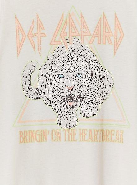 Def Leppard Heartbreak Crew Tee - Pale Pink, CRYSTAL GRAY, alternate