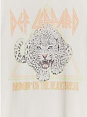 Def Leppard Heartbreak Crew Tee - Light Grey, CRYSTAL GRAY, alternate