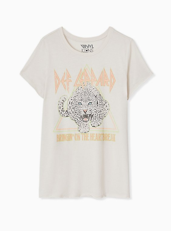 Def Leppard Heartbreak Crew Tee - Light Grey, , hi-res