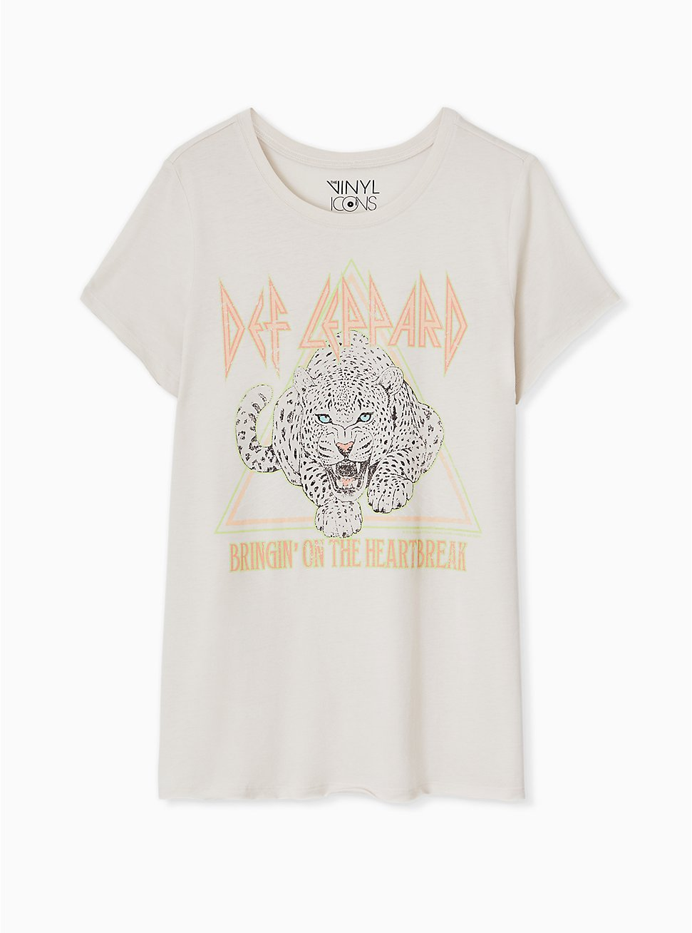 Def Leppard Heartbreak Crew Tee - Light Grey, CRYSTAL GRAY, hi-res