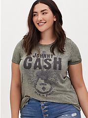 Johnny Cash Man In Black Tee - Olive Green , , hi-res