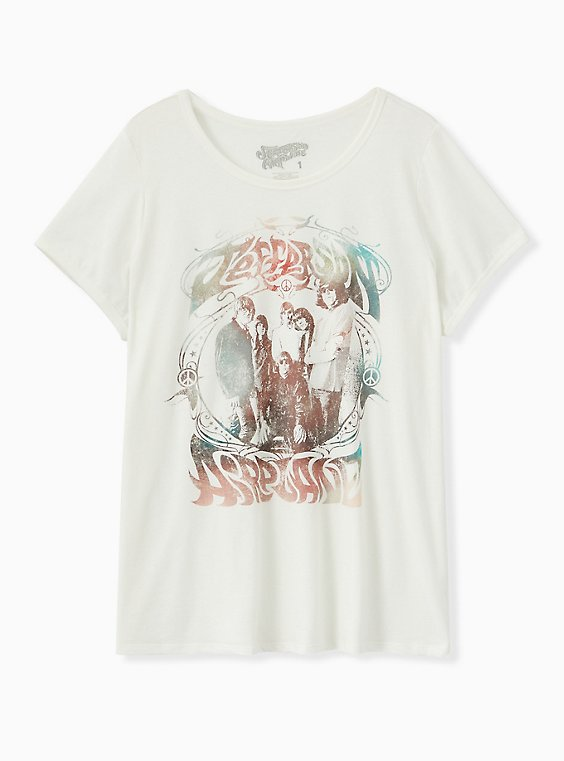Jefferson Airplane Crew Tee - White, CLOUD DANCER, ls
