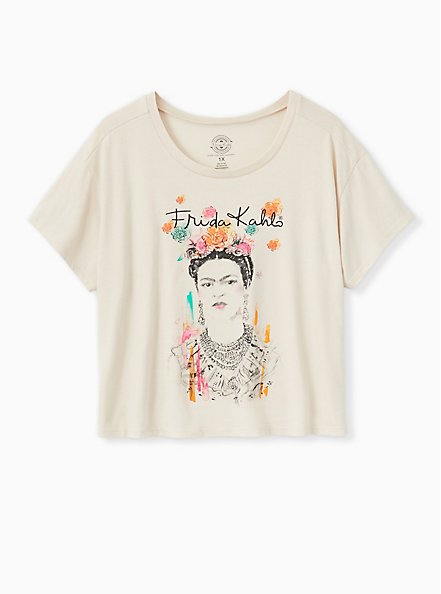 Frida Ivory Crop Crew Tee, CLOUD DANCER, hi-res