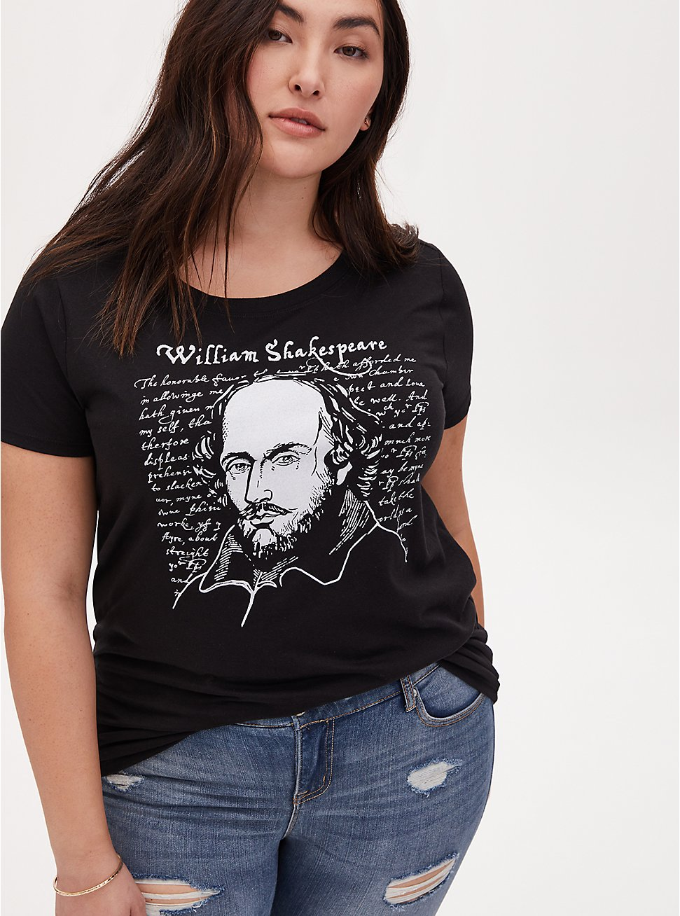 William Shakespeare Crew Tee - Black, DEEP BLACK, hi-res