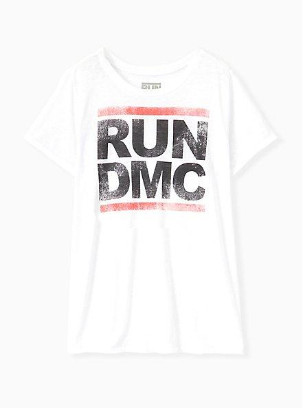 Run DMC Crew Tee - Burnout White, CLOUD DANCER, hi-res